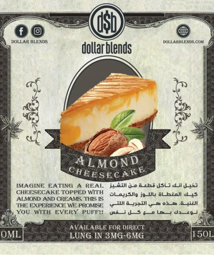 DOLLAR BLENDS ALMOND CHEESECAKE E-LIQUID