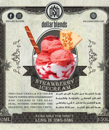 DOLLAR BLENDS Strawberry Ice Cream E-LIQUID