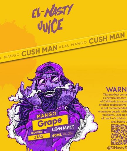 EL NASTY MANGO GRAPE LOW MINT E-LIQUID