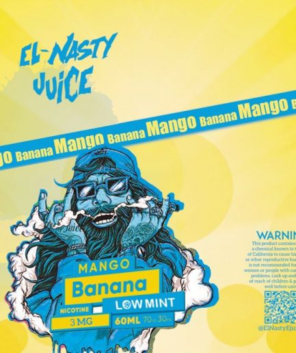 EL NASTY BANANA MANGO LOW MINT E-LIQUID