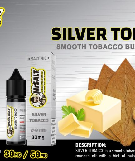 MR DIY MR SALT SILVER TOBACCO SALT NIC. E-LIQUID